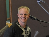 Smiling drummer Anton Danielsen